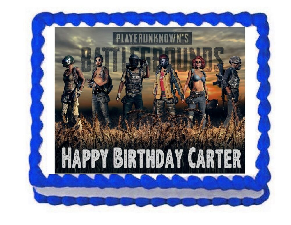 Pubg Playerunknown S Battlegrounds Party Edible Cake Topper Frosting