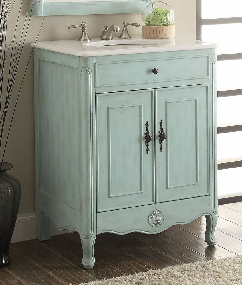 Benton Collection Daleville Rustic Blue Shabby Chic Bathroom Vanity