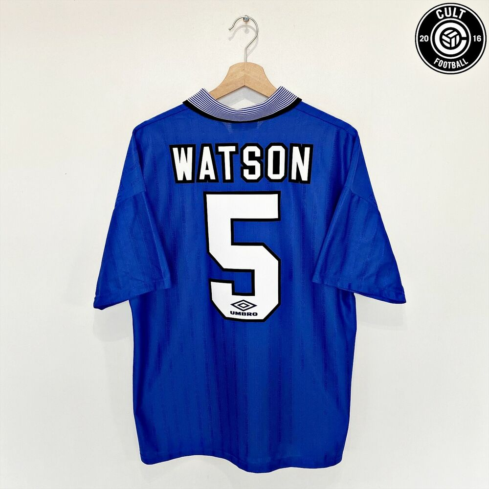 Details about Dave WATSON  5 Everton Vintage Umbro Home Football Shirt FA  Cup final 1995 (L) 29e9e745f