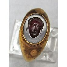 3rd – 4th CENTURY BC ANCIENT GREEK GOLD DEMIGOD CARVED INTAGLIO SEAL RING
