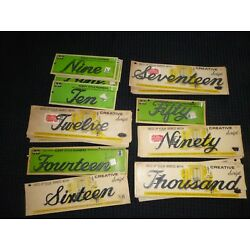 NOS Vtg Mid Century Creative Script or Ky-Ko House Address Numbers Spellout