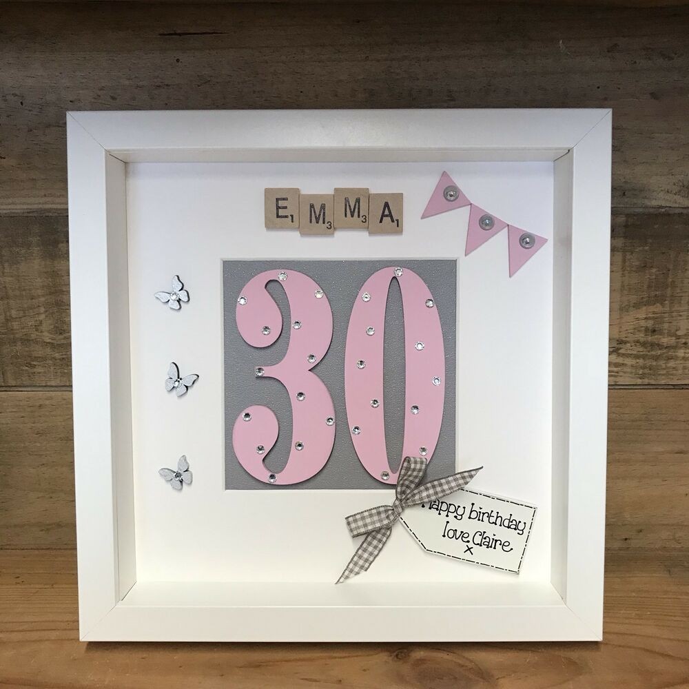 Details About BOX FRAME SPECIAL BIRTHDAY GIFT 18th 21st 30th FRIENDS Scrabble Keepsake