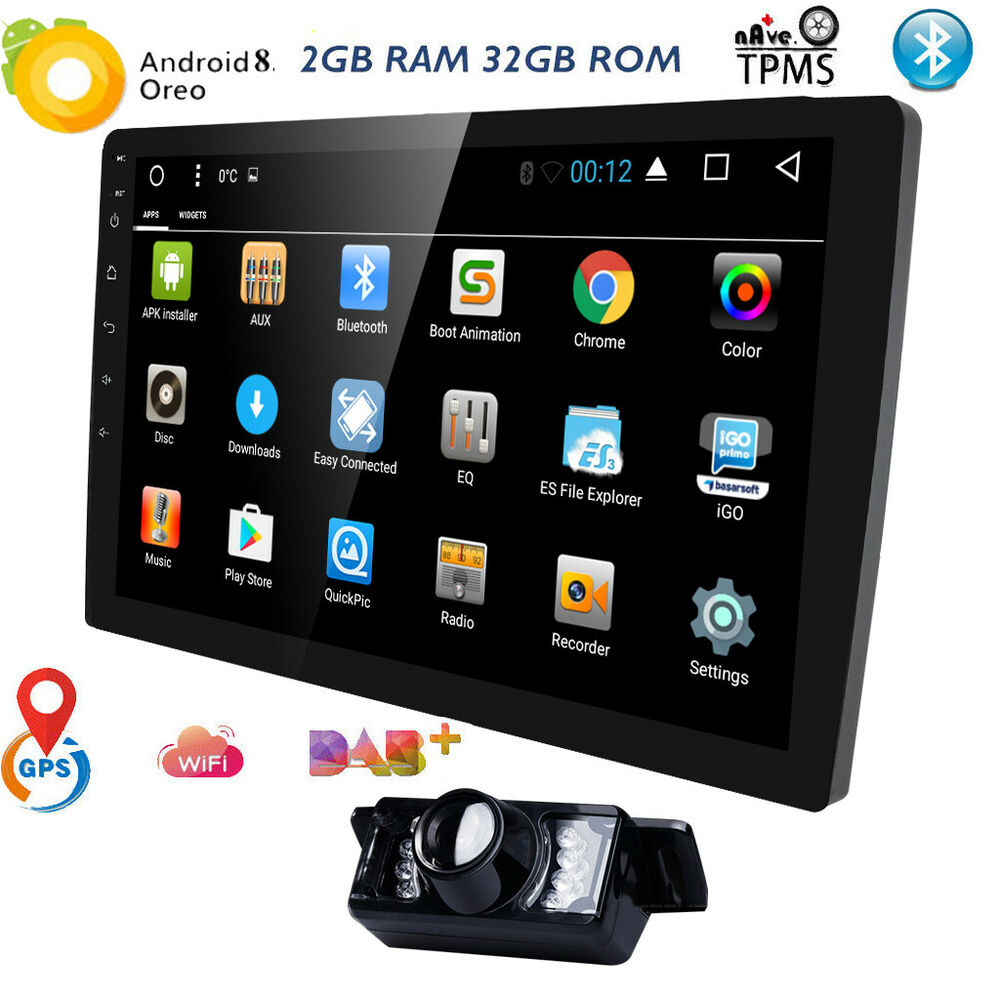 10 1 gps navi android 7 1 single 1 din car stereo no dvd. Black Bedroom Furniture Sets. Home Design Ideas