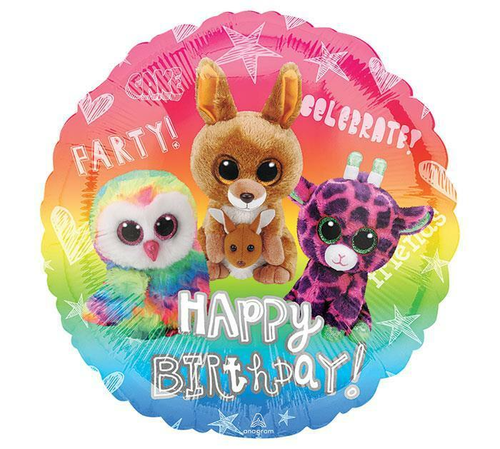 Details About SET OF 2 TY BEANIE BOOS Happy Birthday Balloons FREE SHIP Sweet And Cute