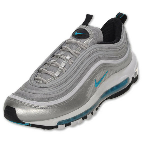 on sale 9c074 dc600 Details about Nike Air Max 97 Marina Blue Metallic Silver Bullet OG 2010  Size 13 312641 015