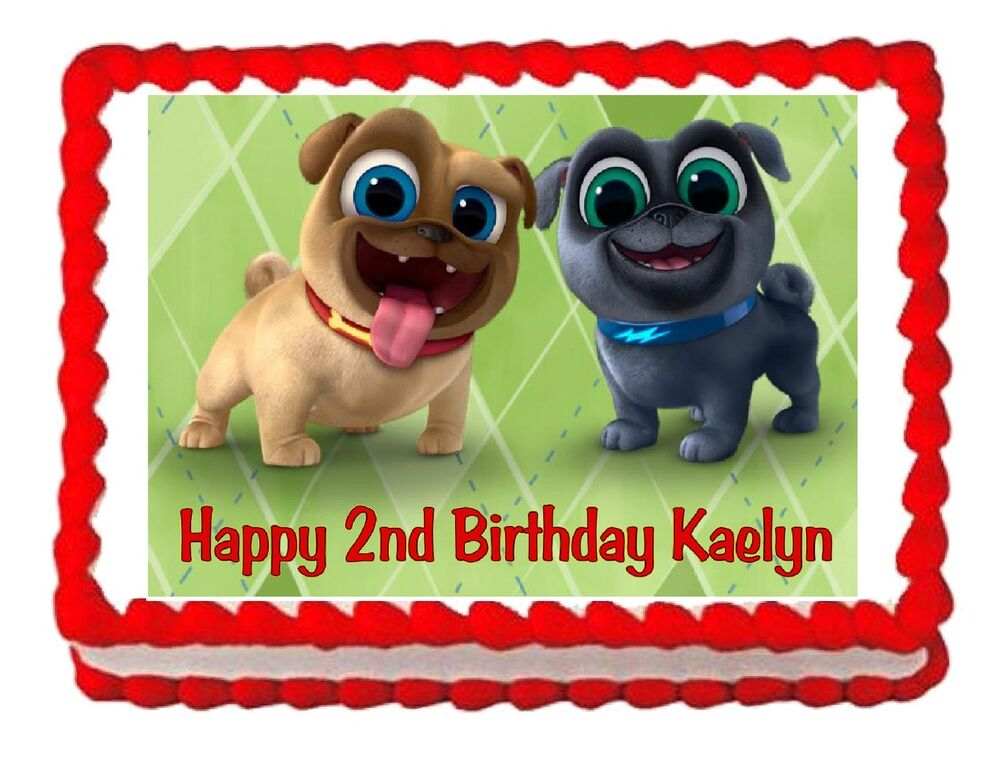 Puppy Dog Pals edible cake image cake topper frosting ...