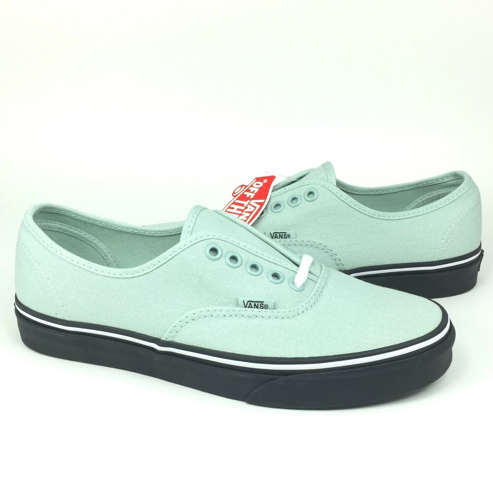 70aa6aa453 New Vans UA Authentic Canvas Skate Shoe ALL SIZES Black Outsole Green Key  Lime
