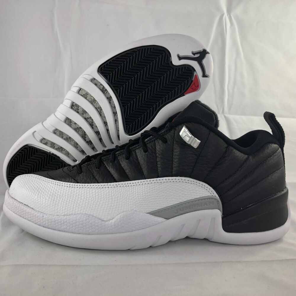 uk availability eed4a a4f3b Details about Nike Air Jordan 12 XII Retro Low Playoffs Black Red White  308317-004 Men s 17