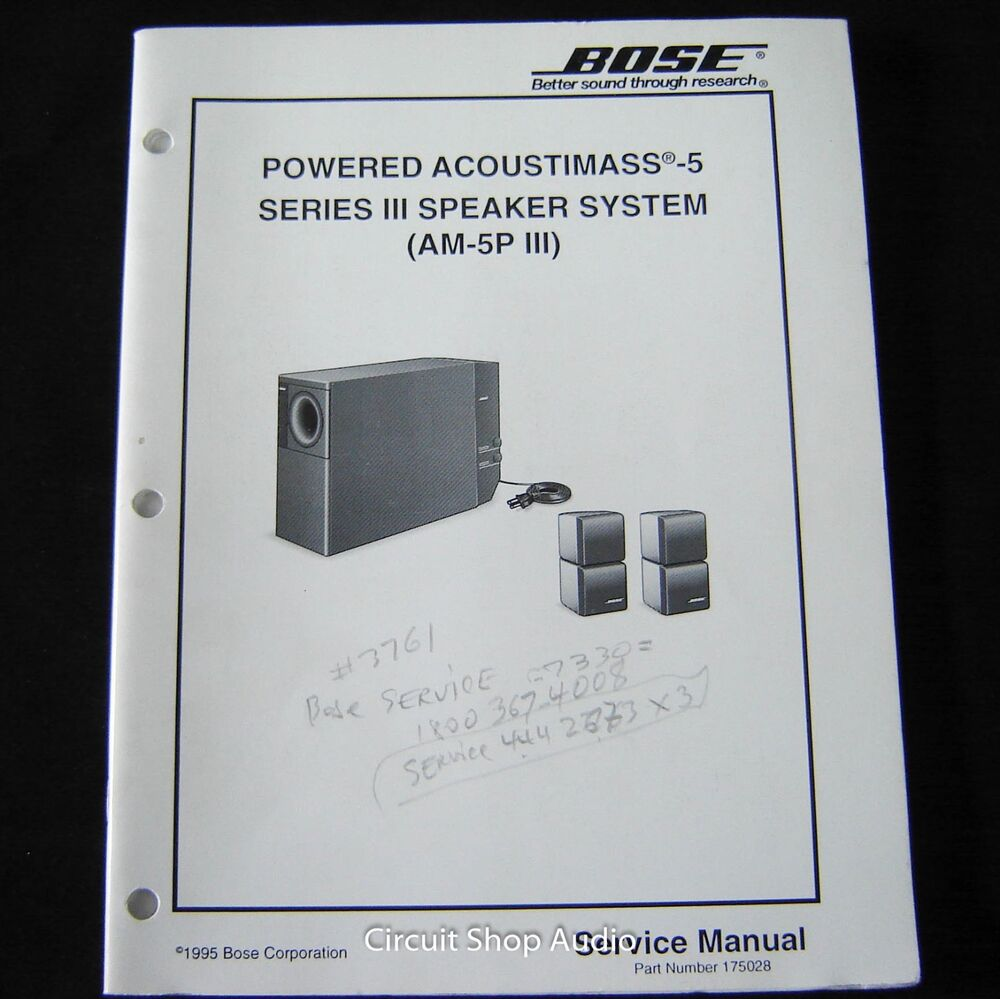 Bose Acoustimass 15 Wiring Diagram