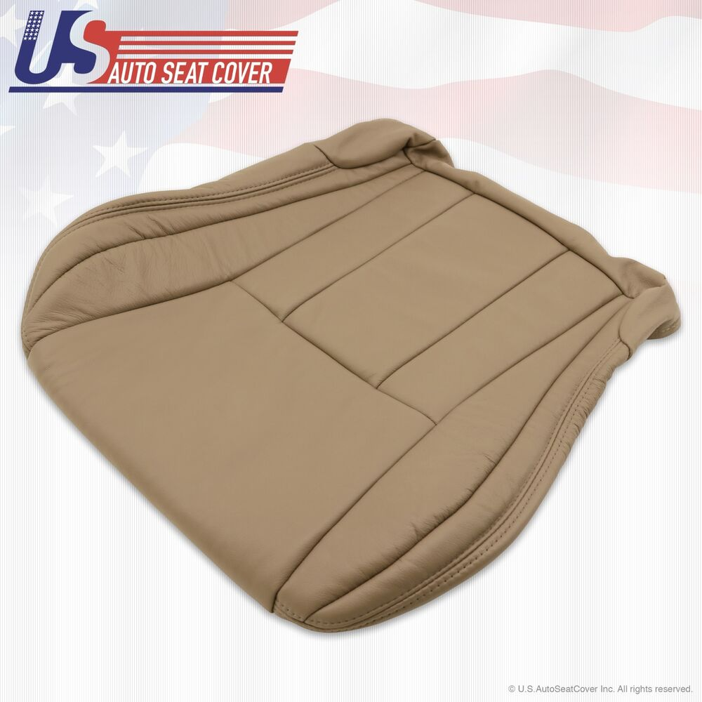 Driver Bottom Leather Seat Cover Tan For 1996 To 2002