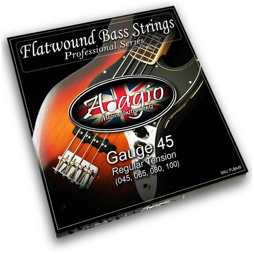 adagio flatwound electric bass strings set gauge 45 100 rrp ebay. Black Bedroom Furniture Sets. Home Design Ideas