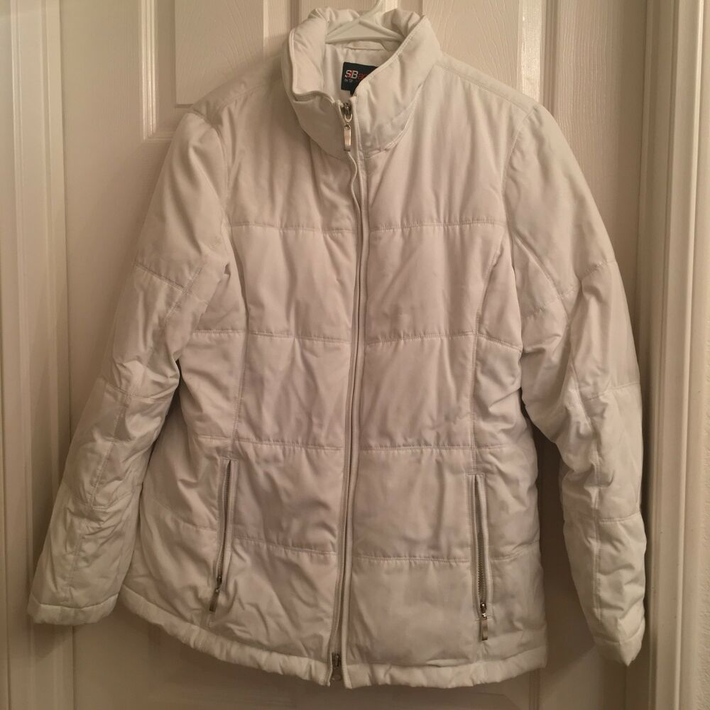 045989880f24 Details about Winter White SNOW COAT JACKET HOODED SJB ST JOHN BAY JCP Size  Small S Women s