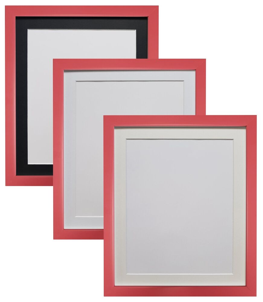 1c39d27db4a Details about 0.75 Picture Frame Bubble Gum Pink with Black White and other  colour mount