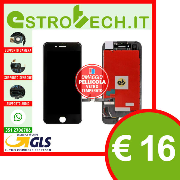 OFFERTA LCD DISPLAY PER APPLE IPHONE 8 G NERO CON RETINA ORIGINA SCHERMO TIANMA