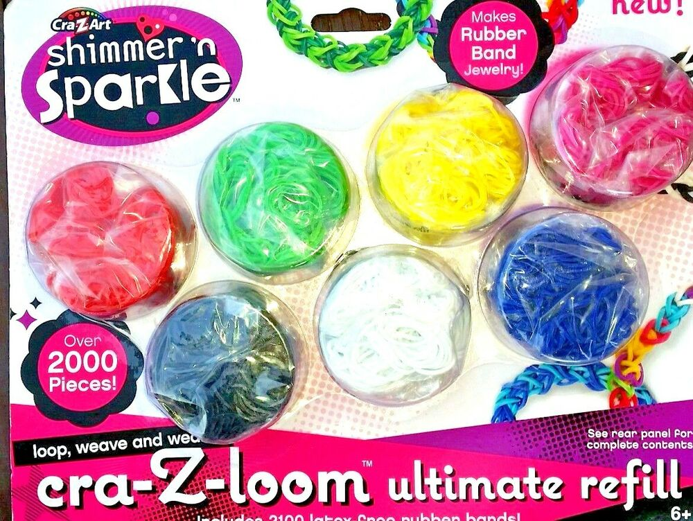 Loom Bands This Crazy Art R Shimmer Sparkle Refill Clearance Sale