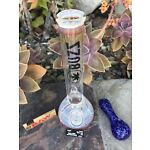 "10"" beaker glass bong + FREE 3"" glass Hand Pipe, Raw Papers,Screens"