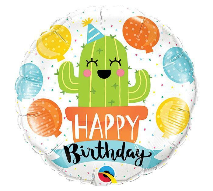 Details About Set Of 2 Party CACTUS Happy Birthday Balloons FREE SHIP Southwest Desert Summer