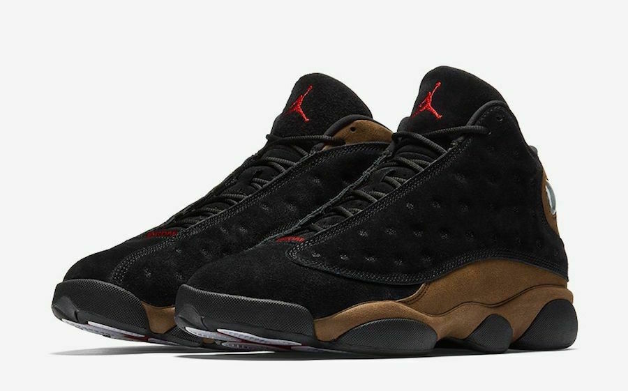 best service 6316a 4a10b Details about Nike Air Jordan 13 Retro Olive Size 7-14 Black Gym Red Light  Olive 414571 006
