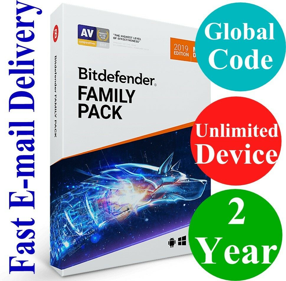 Bitdefender Family Pack Unlimited Device 2 Year Unique Global Key Code 2019 Ebay