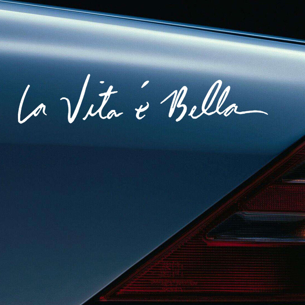 Details about diy car vinyl sticker life is beautiful la vita e bella quote styling decal