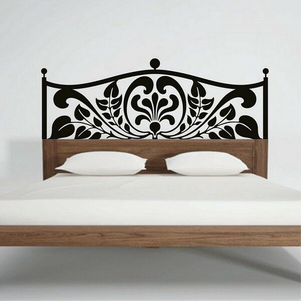 headboard wall stickers bed headrest decal bedroom decorative home