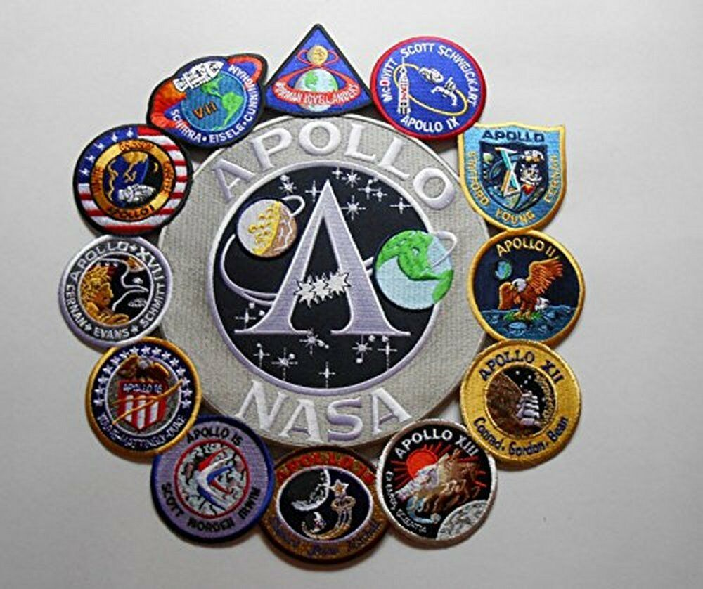 Apollo Mission Patch Collage Apollo 1,7,8,9,10,11,12,13,14 ...