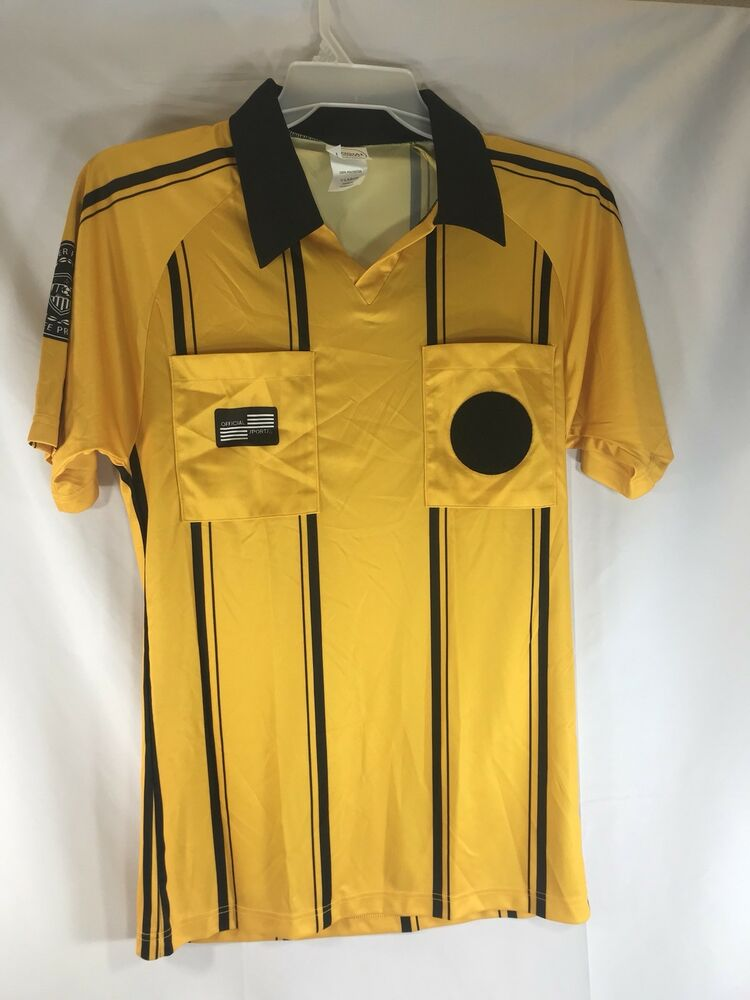 3e4a3c95842 Details about Official Sports International Soccer Referee Jersey Shirt  Yellow Youth Large