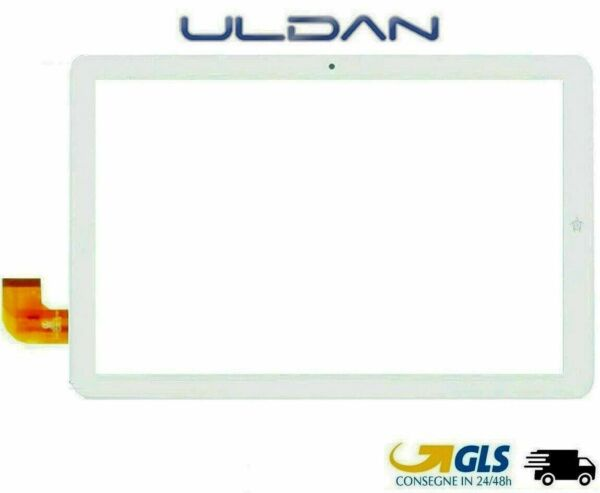 TOUCH SCREEN MEDIACOM SmartPad iyo 10 Pie M-SP1CY BIANCO ORIGINALE PER VETRO
