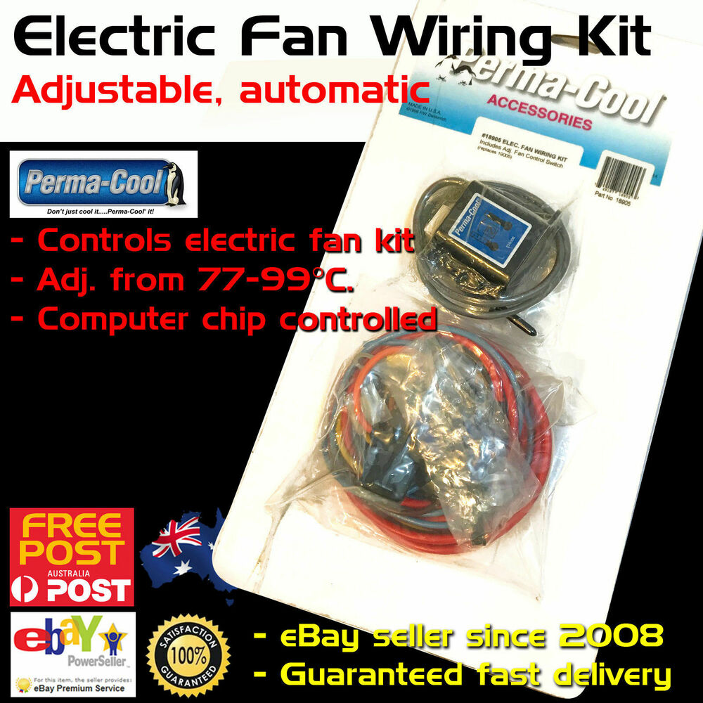 Adjustable Electric Fan Wiring Diagram Library Thermal Switch New Perma Cool Thermo Kit Temp Electrical Symbols