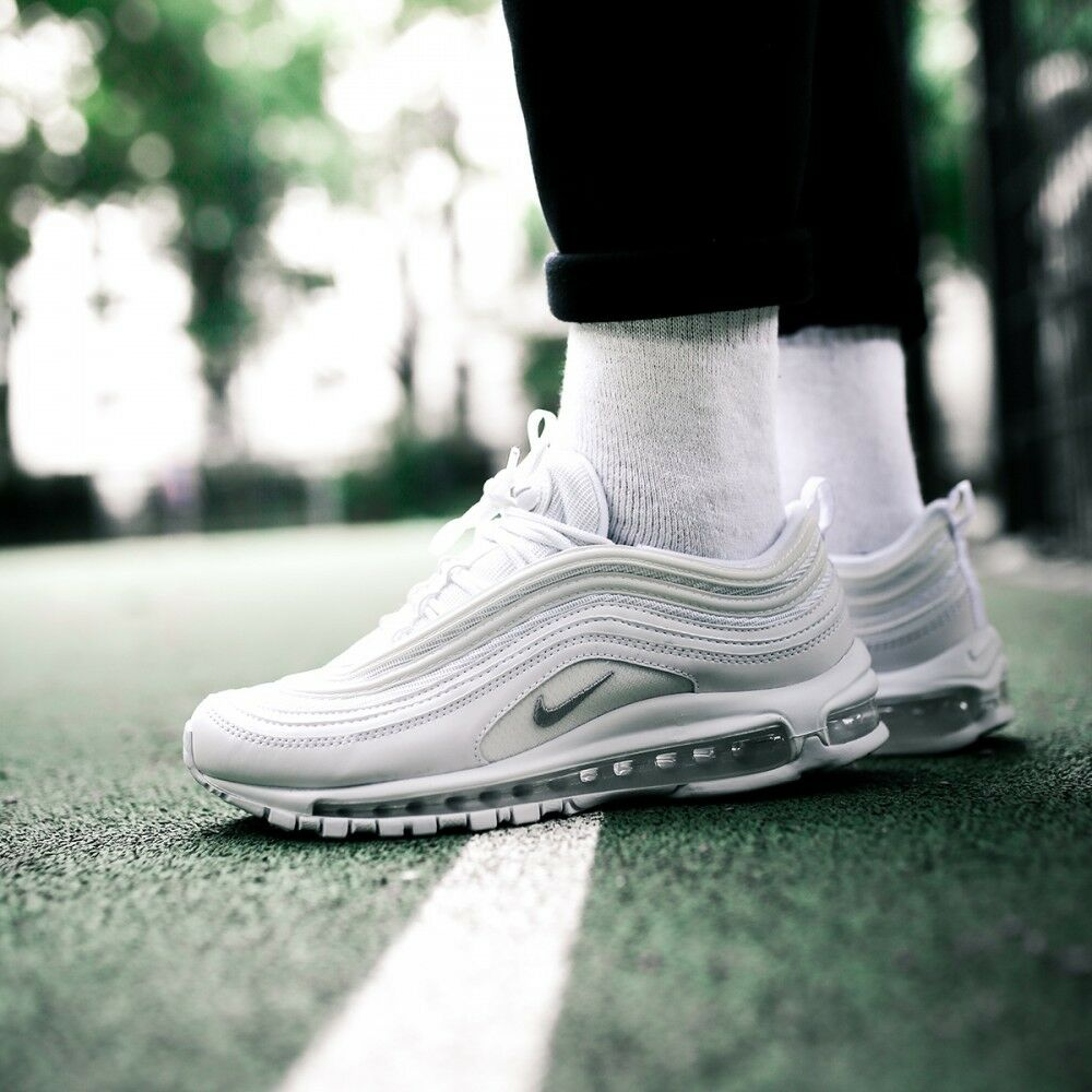 56bff5c307e6f Details about Nike Air Max 97 OG White Wolf Grey Men s Trainers All sizes  Available 921826-101
