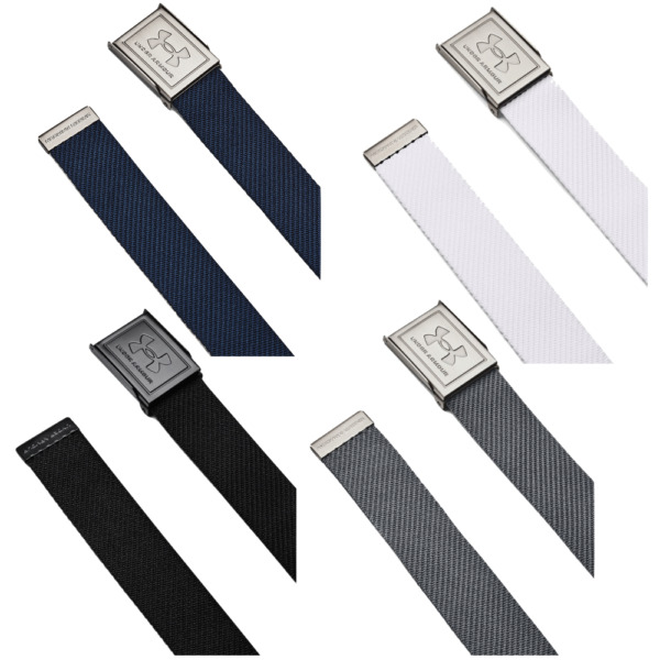 UNDER ARMOUR 2019 UA 2.0 WEBBING BELT ONE SIZE CANVAS REVERSIBLE GOLF BELT