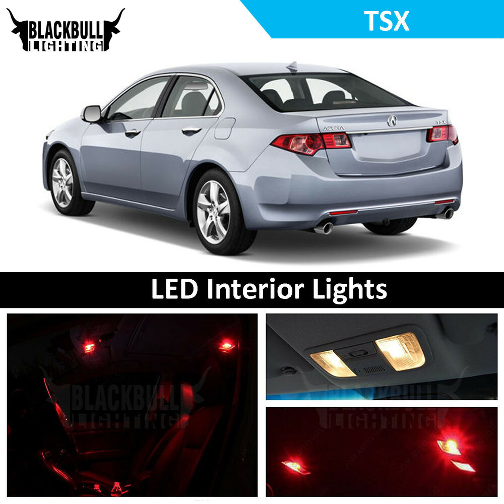 Red LED Interior Lights Replacement Package Kit Fits 2009