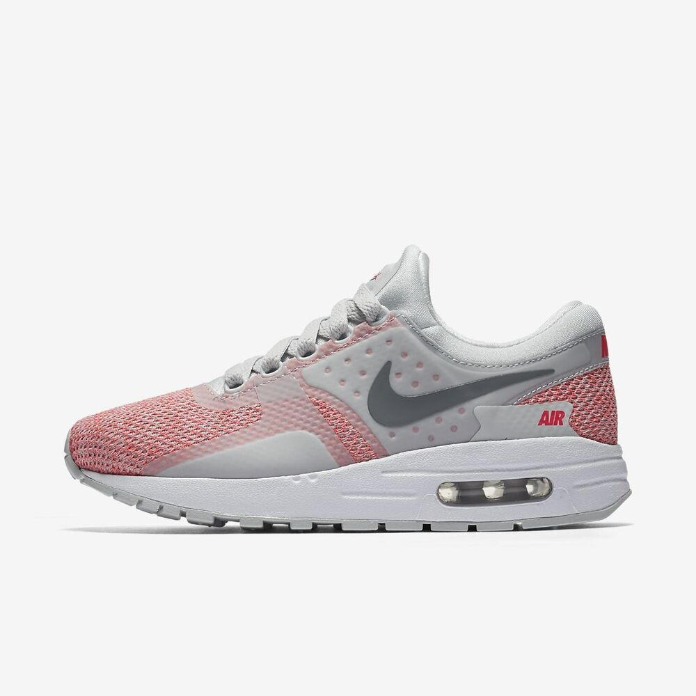 info for fd6fd 911a5 Details about NEW Girl s Nike Air Max Zero SE Shoes Size  5.5Y Color   Gray Pink