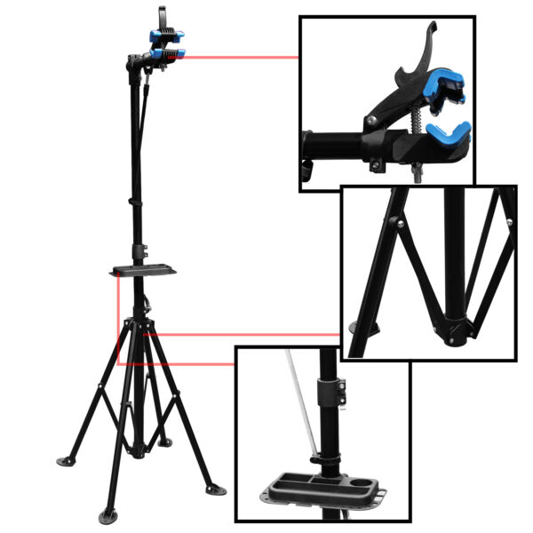 Adjustable Bike Cycle Maintenance Repair 360° 30kg Stand Mechanic Workstand Rack