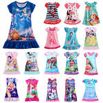 Kids Baby Girls Nightdress Disney Princess Pajamas Nightwear Nightie Nightgown