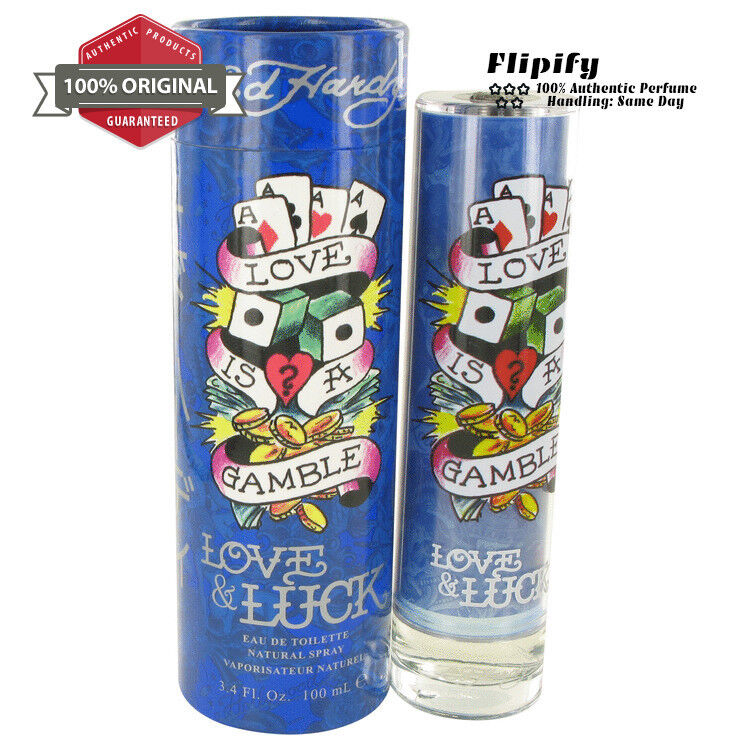 Ed Hardy Love Luck For Men 3 4 Oz 100 Ml Edt Spray: Love & Luck Cologne 6.7 Oz 1.7 Oz 3.4 Oz EDT Spray For MEN By Christian Audigier