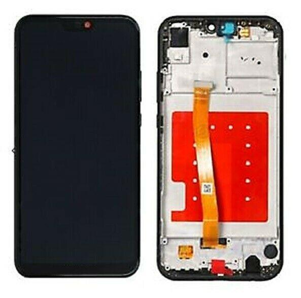 DISPLAY LCD HUAWEI P20 LITE ANE-LX1 FRAME TOUCH SCREEN SCHERMO VETRO NERO + KIT