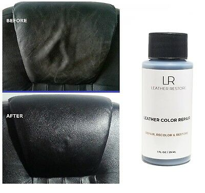 Leather Color Repair 1 Oz Recolor Restorer Couch Furniture Auto Interior, No Kit