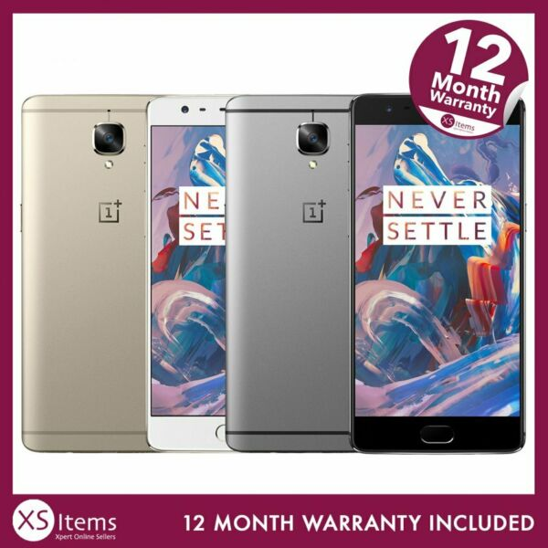 OnePlus 3 A3003 64GB Android Mobile Smartphone Graphite/Soft Gold Unlocked/EE