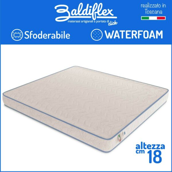 MATERASSO WATERFOAM POLIURETANO ORTOPEDICO H 18 CM BASIC SFODERABILE ANALLERGICO