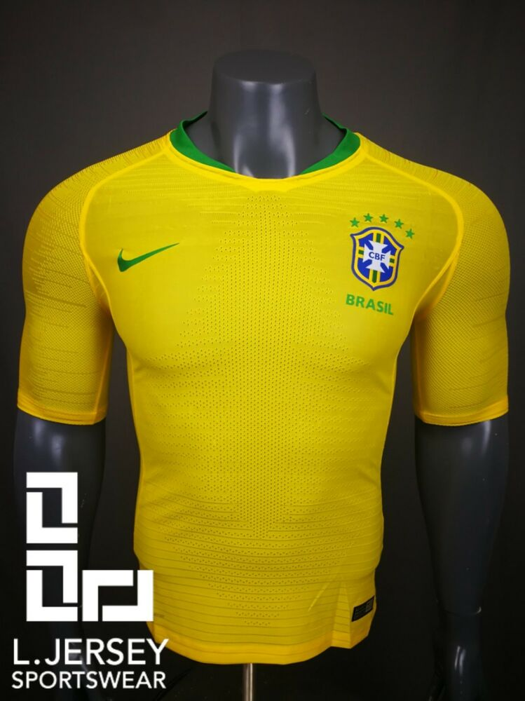 57a6c9f0f brazil men home world cup 2018 vapor match player jersey