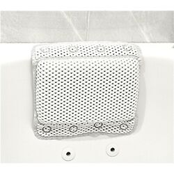 Kyпить Non-Slip Foam Spa Bath Pillow Featuring 8 Suction Soft Luxurious White на еВаy.соm