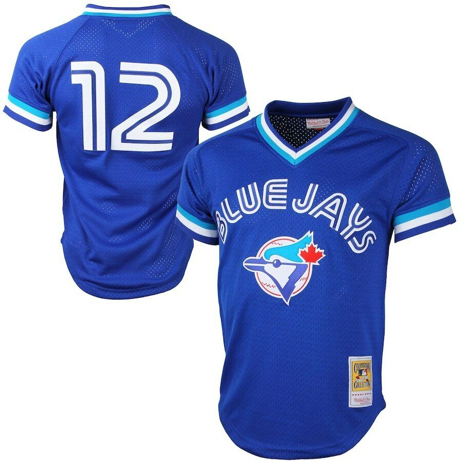 299ed701f2c Details about Roberto Alomar  12 Toronto Blue Jays Men s Blue Cooperstown  Jersey