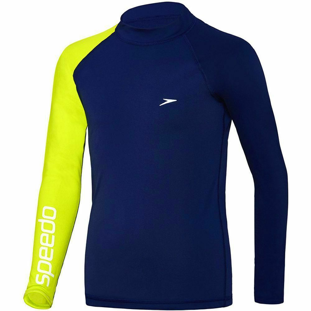 a62884f9817 Details about SPEEDO BOYS LONG SLEEVE DISSECT SUN TOP