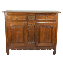 Antique 18th century Rustic Oak French Country Louis XV Buffet Sideboard Cabinet