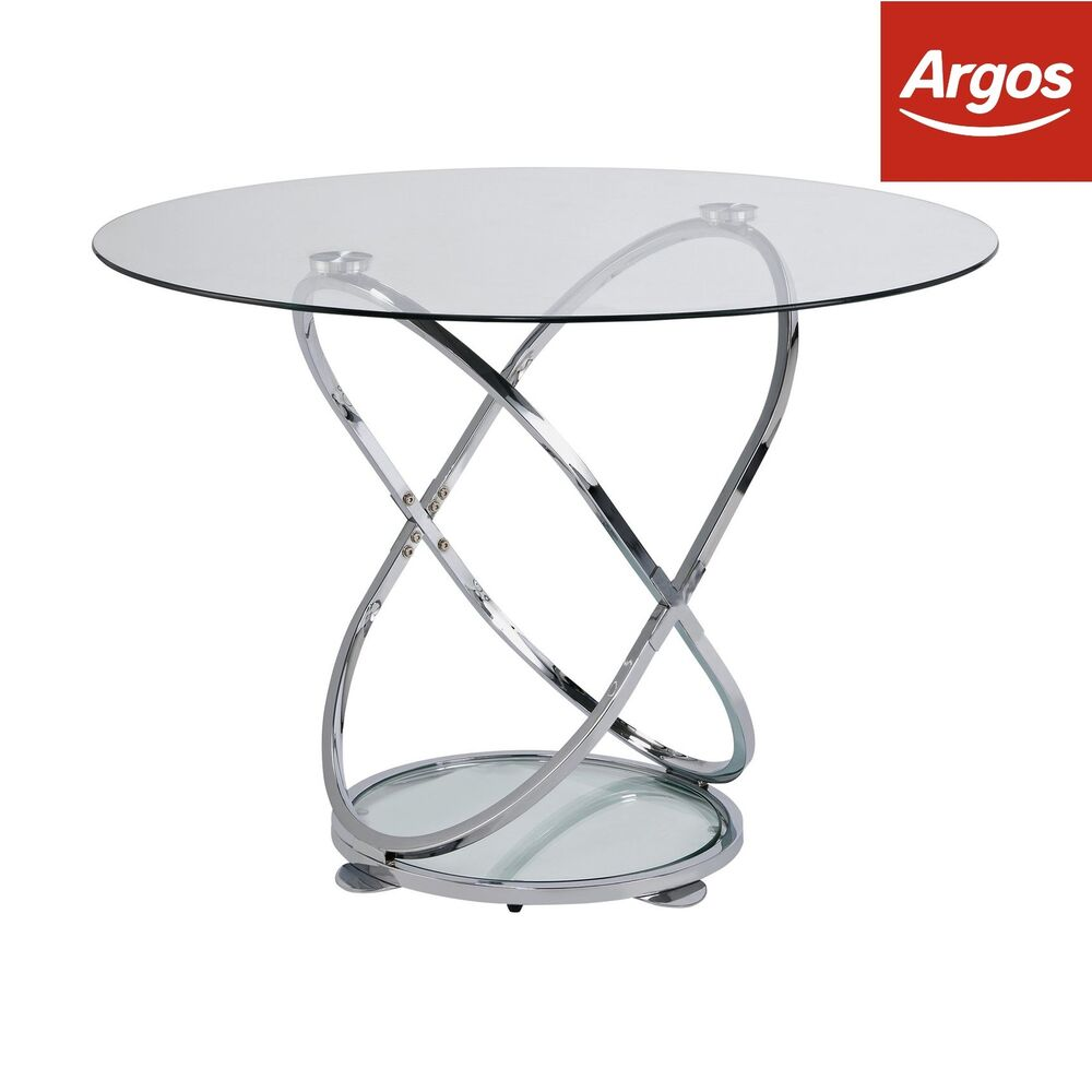 Glass Coffee Table From Argos: Argos Home Atom Round Glass 4 Seater Dining Table