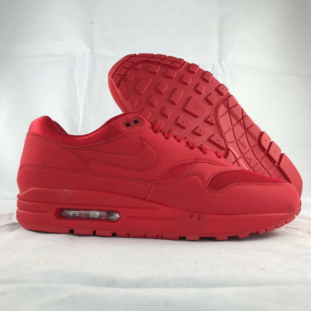 sneakers for cheap c407b 5530d ... reduced details about nike air max 1 one premium tonal pack triple red 875844  600 mens