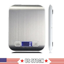 USA Stainless Steel LED Digital Scale For Food Kitchen Postal 11lb 5000g x1g