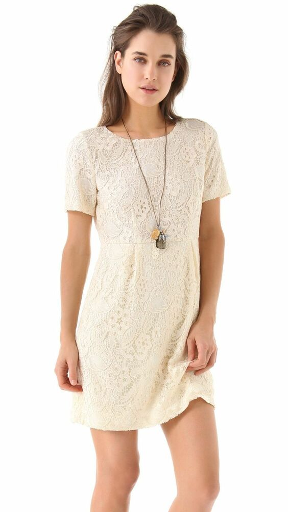 cb77e24eb0 Details about NEW Madewell Broadway   Broome Birdcage Lace Dress Cream  Ivory S 4 Cocktail WOW!