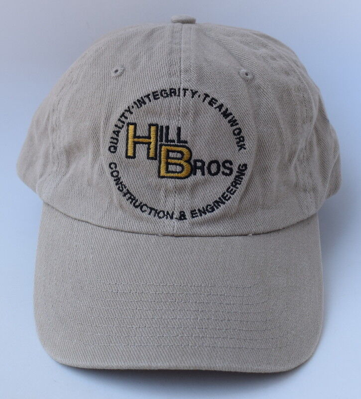 60cce98f627 Details about HILL BROS CONSTRUCTION   ENGINEERING Adjustable Strapback Dad  Hat Baseball Cap